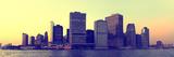 Panorama dello skyline di Manhattan al tramonto Stampa fotografica di Philippe Hugonnard