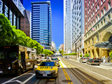 Taxi Cabs - Downtown - San Francisco - Californie - United States Photographic Print by Philippe Hugonnard