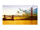 Sunset - Golden Gate Bridge - San Francisco - California - United States Photographic Print by Philippe Hugonnard