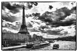 Eiffel Tower and the Seine River - Paris - France Photographic Print by Philippe Hugonnard