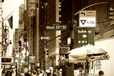 Street Scenes -  West 33rd - Manhattan - New York - United States Photographic Print by Philippe Hugonnard