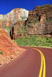Scenic Drive - Zion National Park - Utah - United States Photographic Print by Philippe Hugonnard