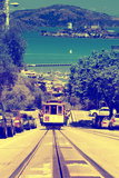 Cable Cars De Downtown De San Francisco VI Photographic Print by Philippe Hugonnard