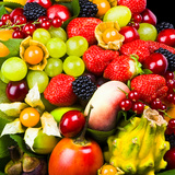 Close up of Fresh Fruits - Fruit assortments - Fruits and Vegetables Photographic Print by Philippe Hugonnard