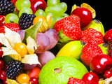 Close up of Fresh Fruits - Fruit assortments - Fruits and Vegetables Reprodukcja zdjęcia autor Philippe Hugonnard