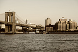 Brooklyn Bridge - The Watchtower - Manhattan - New York City - United States Photographic Print by Philippe Hugonnard