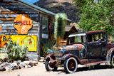 Gammel tankstation på Route 66, Arizona VIII Fotografisk tryk af Philippe Hugonnard