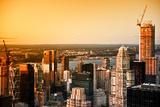 Sunset - Hudson River - Manhattan - New York City - United States Photographic Print by Philippe Hugonnard