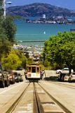 Cable Cars in downtown San Francisco VIX Fotoprint van Philippe Hugonnard