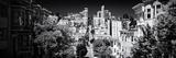 Panoramablick auf eine Straße in San Francisco Fotodruck von Philippe Hugonnard