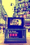 Subway Stations - Manhattan - New York City - United States Fotografiskt tryck av Philippe Hugonnard