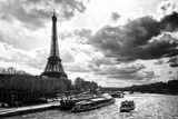Eiffel Tower and the Seine River - Paris - France Fotodruck von Philippe Hugonnard