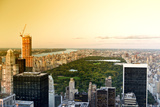 View of city - Sunset - Manhattan - New York City - United States Photographic Print by Philippe Hugonnard