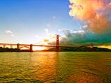 Sunset - Golden Gate Bridge - San Francisco - California - United States Photographic Print by Philippe Hugonnard