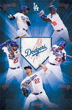 Los Angeles Dodgers Team Baseball Poster Affiche