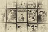 Anciennes Cartes Postales Publicitaires Françaises, Rue Des Saules À Montmartre IV Photographie par Philippe Hugonnard