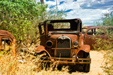 Cars - Route 66 - Gas Station - Arizona - United States Photographic Print by Philippe Hugonnard