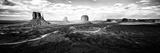Vista panorámica del Valle de los Monumentos, frontera entre Utah y Arizona III Lámina fotográfica por Philippe Hugonnard