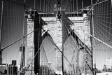 Detail Of Brooklyn Bridge With One World Trade Center Photographie par Philippe Hugonnard