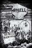 Gamla reklamskyltar, Route 66 II Fotografiskt tryck av Philippe Hugonnard