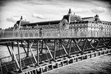 Musee d'Orsay - Solferino Bridge view - Paris - France Photographic Print by Philippe Hugonnard