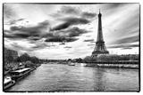 Veduta della Torre Eiffel, Parigi, Francia Stampa fotografica di Philippe Hugonnard