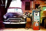 Gammel tankstation på Route 66, Arizona VI Fotografisk tryk af Philippe Hugonnard