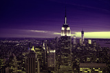 View of city - Manhattan - New York City - United States Photographic Print by Philippe Hugonnard