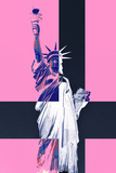 Statue of Liberty - Pop Art - Pink Ladies - New York - United States Photographic Print by Philippe Hugonnard