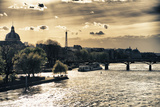 Sunset - Pont des Arts - Paris - France Photographic Print by Philippe Hugonnard