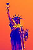 Statue of Liberty - Décorative Art - Orange Vintage - NYC - United States Photographic Print by Philippe Hugonnard