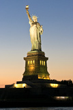 Liberty Island - Statue of Liberty - Sunset - Manhattan - New York City - United States Photographic Print by Philippe Hugonnard