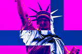 Statue of Liberty - Pop Art - Décorative Art - Pink - New York - United States Photographic Print by Philippe Hugonnard
