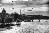Couché De Soleil, Paris, Pont Des Arts VII Reproduction photographique par Philippe Hugonnard