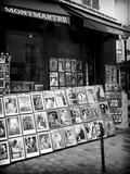 Negozio d'arte, Montmartre, Parigi Stampa fotografica di Philippe Hugonnard