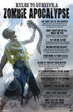 Rules to Survive a Zombie Apocalypse Poster Posters