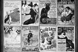 Gamla franska postkort, Galleri, Montmartre, Paris, Frankrike VII Fotografiskt tryck av Philippe Hugonnard