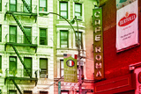 Advertising - Cafe Roma - Little Italy - Manhattan - New York - United States Photographic Print by Philippe Hugonnard