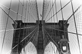 Details Brooklyn Bridge - Manhattan - New York - United States Photographic Print by Philippe Hugonnard