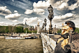Grand Palais and The Seine River - Paris - France Photographic Print by Philippe Hugonnard