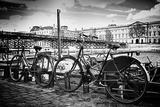 Bicicletas parisinas, Puente de las Artes, París, Francia Lámina fotográfica por Philippe Hugonnard
