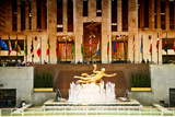 Statue of Prometheus in the Plaza of the Rockefeller Center - Manhattan - New York City - United St Photographic Print by Philippe Hugonnard