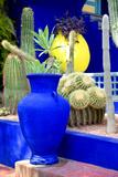 Dekoration im Jardin Majorelle, Marrakesch Fotodruck von Philippe Hugonnard