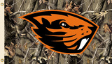 NCAA Oregon State Beavers Flag With Grommets Realtree Camo Background Flag