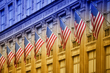 American flags - Manhattan - NYC - United States Photographic Print by Philippe Hugonnard