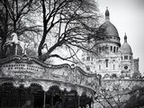 Carousel 18th century - Sacré-Cœur Basilica - Montmartre - Paris - France Photographic Print by Philippe Hugonnard