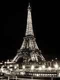 Eiffel Tower - Bateau mouche vedette de Paris - France Photographic Print by Philippe Hugonnard