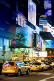 Taxi Cabs - Yellow Cabs - Times square - Manhattan - New York City - United States Photographic Print by Philippe Hugonnard