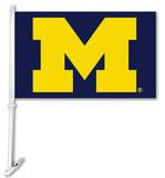 NCAA Michigan Wolverines Car Flag With Wall Brackett Flag