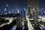 Urban Landscapes - Manhattan by Night - New York - United States Photographic Print by Philippe Hugonnard